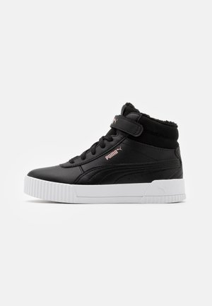 CARINA MID UNISEX - Höga sneakers - black/rose gold/white