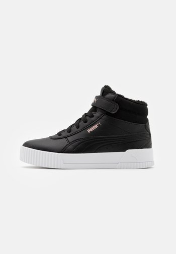 CARINA MID UNISEX - High-top trainers - black/rose gold/white