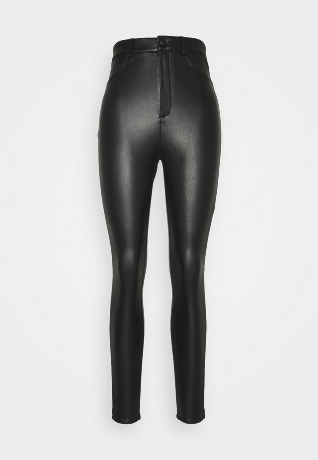 WITH BUTTON - Legginsy - black