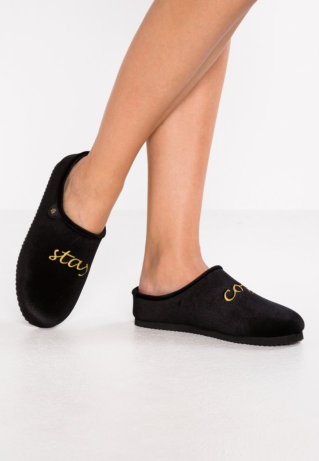 HOMESTAY WORDS - Chaussons - black