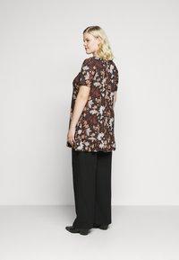 Evans - FLORAL FRILL SHORT SLEEVE TUNIC - Print T-shirt - multi-coloured - 2