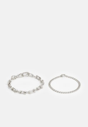 CHUNKY CHAIN 2 PACK - Rannekoru - silver-coloured