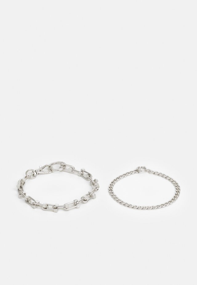 CHUNKY CHAIN 2 PACK - Armbånd - silver-coloured