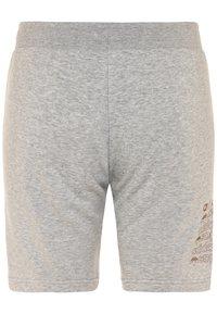 adidas Originals - LOGO - Tracksuit bottoms - medium grey heather/scarlet - 1