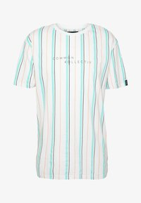 Common Kollectiv - UNISEX STRIPED AQUA TEE - Print T-shirt - white - 4