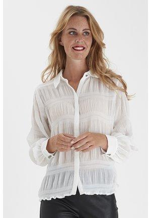 FRNAPLISSE - Button-down blouse - antique