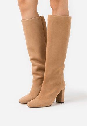 CALIME - High heeled boots - camel