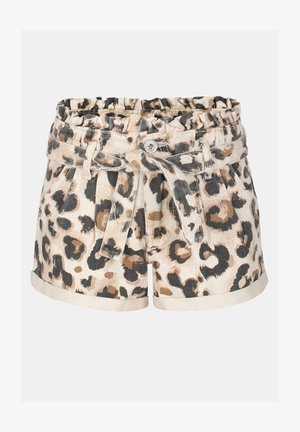 MOM LEOPARD SHORT - Shorts - brown