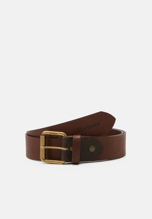 CONTRAST BELT - Gürtel - olive/brown