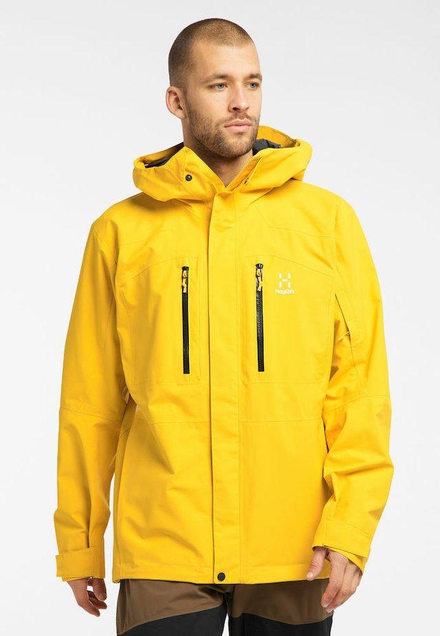 Ski jacket - pumpkin yellow