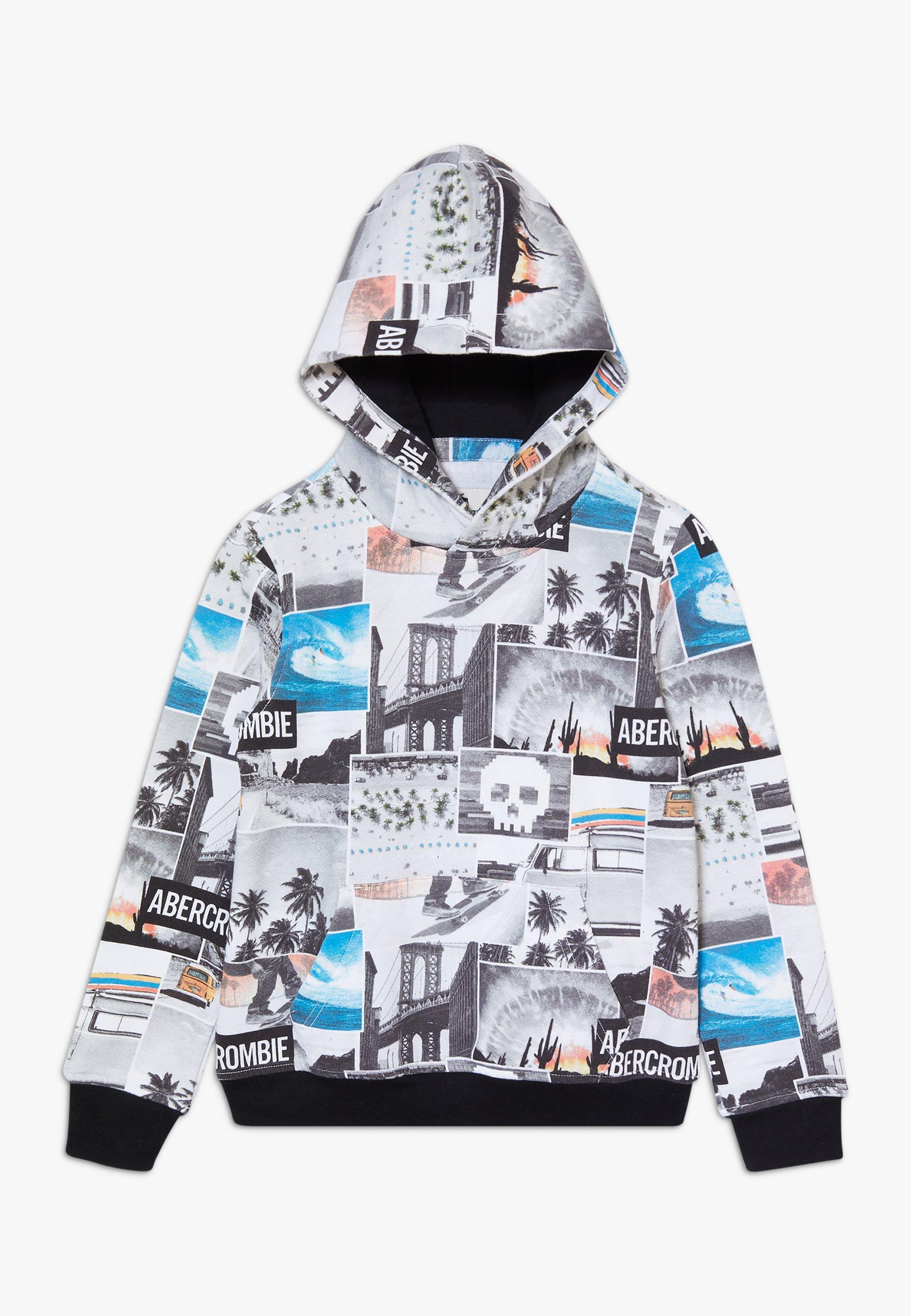 Große Förderung Abercrombie & Fitch JAN2 LOGO - Sweatshirt - white | Damenbekleidung 2020