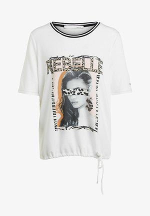 Print T-shirt - cloud dancer