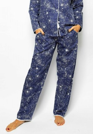 Pyjama bottoms - navy star prt