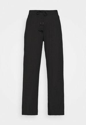 CRINKLE TROUSERS - Pyjama bottoms - black