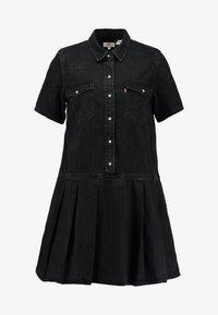 Levi's® - MIRAI WESTERN DRESS - Denim dress - black sheep - 4