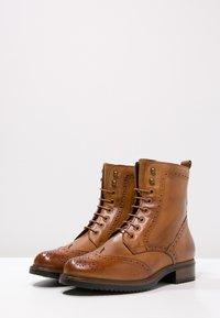 Pier One - Lace-up ankle boots - cognac - 3