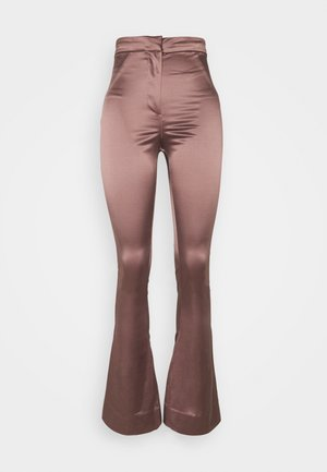 ALECIO FLARE TROUSER - Trousers - dusty pink