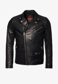 Superdry - HERO - Leather jacket - black - 3