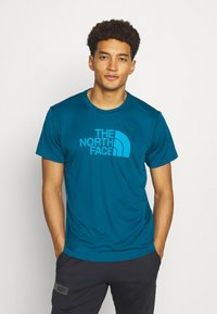 The North Face - MENS REAXION EASY TEE - Print T-shirt - moroccan blue - 0