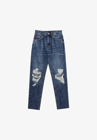 PULL&BEAR - MOM - Relaxed fit jeans - mottled blue - 6