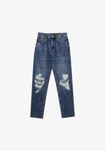 MOM - Relaxed fit jeans - mottled blue