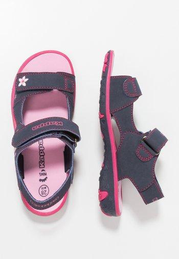 BLOSSOM - Walking sandals - navy/pink