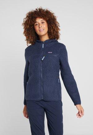 RETRO PILE HOODY - Fleece jacket - neo navy