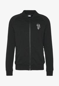KARL LAGERFELD - ZIP JACKET - Sweat à capuche zippé - black - 5