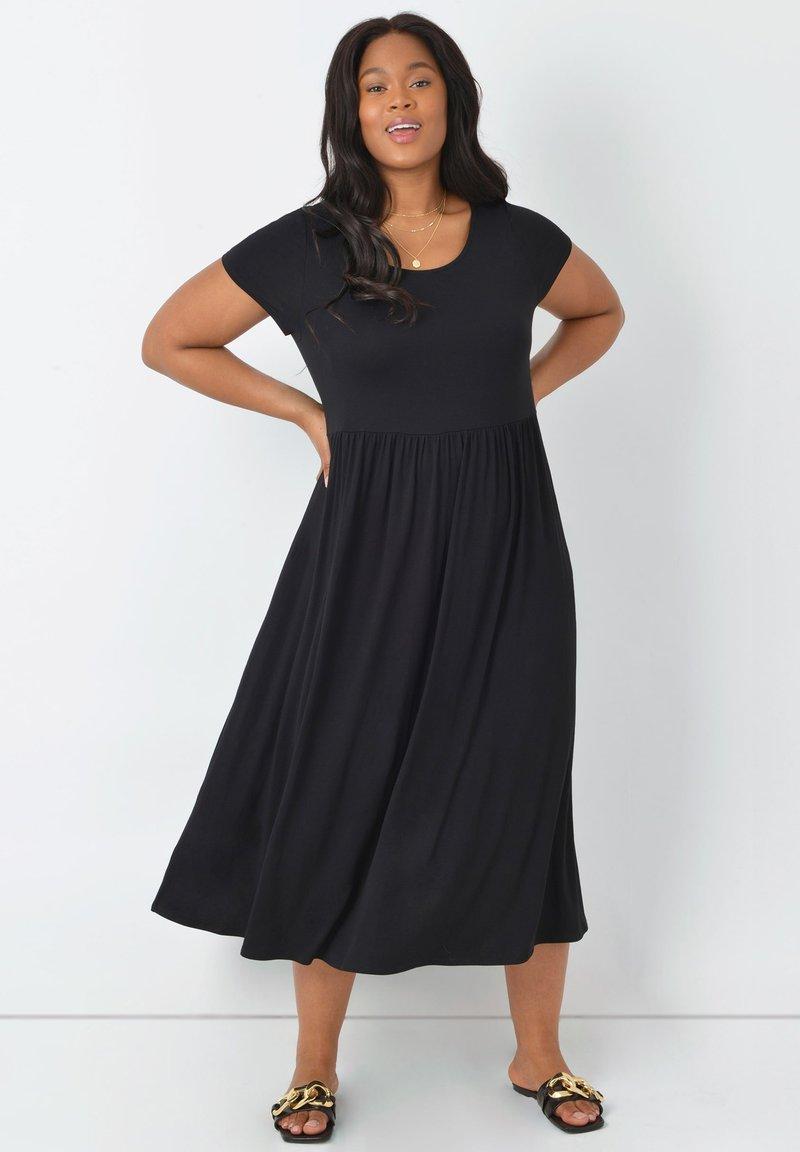 Live Unlimited London - Jersey dress - black