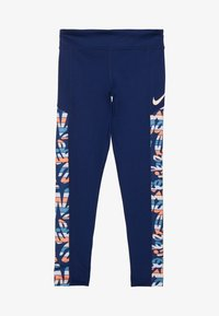 Nike Performance - TROPHY  - Leggings - blue void/white - 2