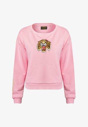BIG ROAR CROP CREW SWEAT - Sweatshirt - pink