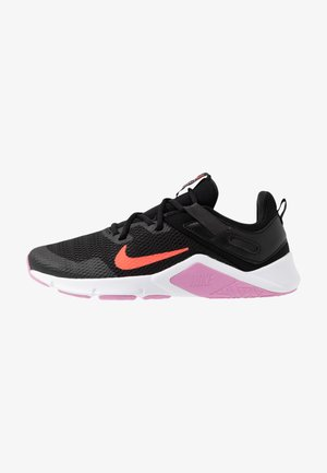 LEGEND ESSENTIAL - Zapatillas de entrenamiento - black/flash crimson/beyond pink