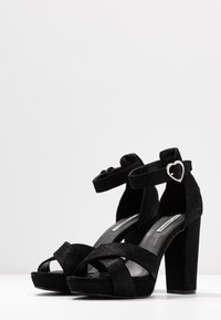 KARL LAGERFELD - SOIREE LOVE CROSS SANDAL - Korolliset sandaalit - black - 4