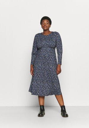 MIDI DRESS - Jersey dress - blue