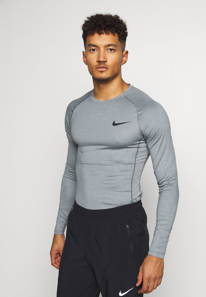 Nike Performance - Sports shirt - smoke grey/light smoke grey/black