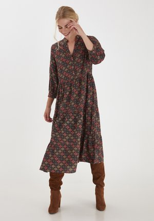 Shirt dress - black mix