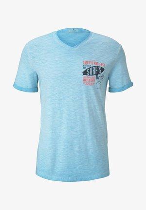MELIERTES - T-shirt imprimé - clear blue atoll