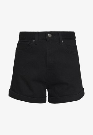 MOM LINE  - Denim shorts - flash black