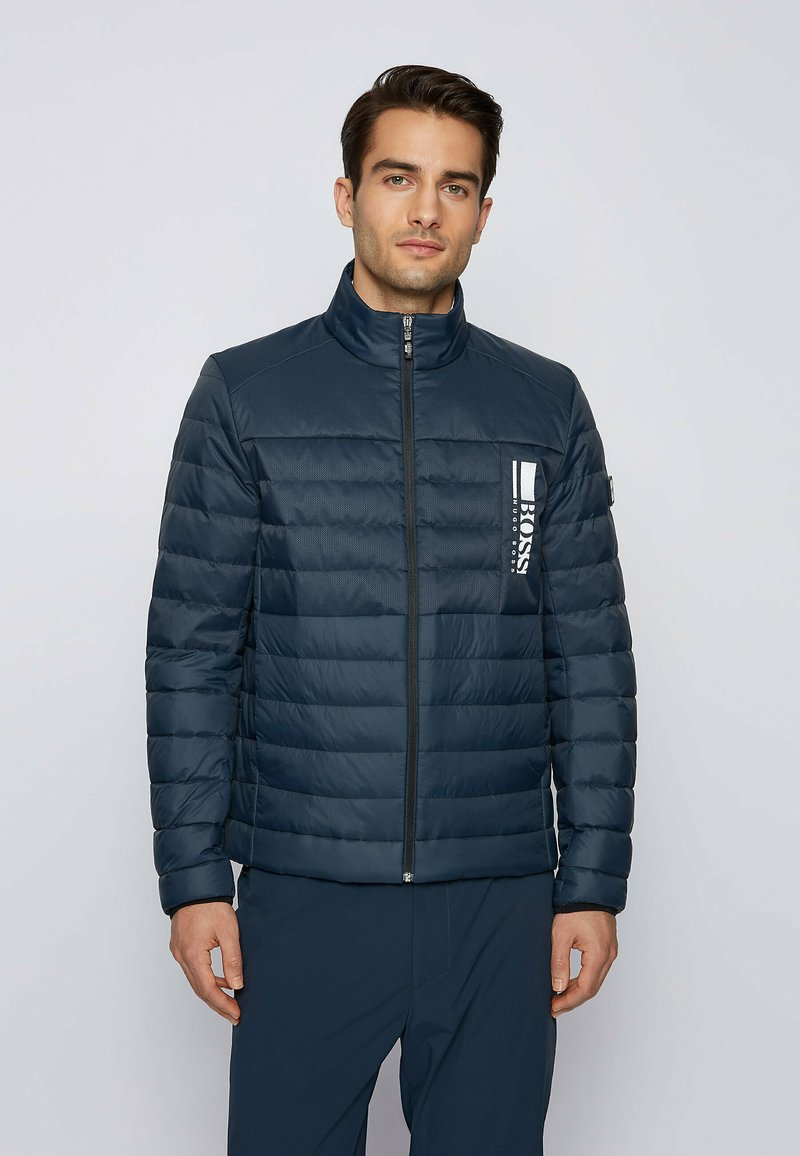 BOSS - BASALT - Down jacket - dark blue