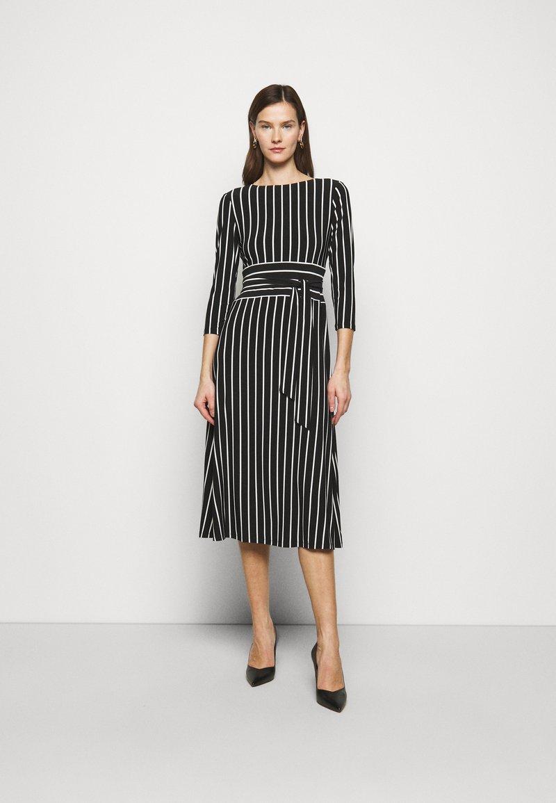 Lauren Ralph Lauren - PRINTED MATTE DRESS - Jersey dress - black
