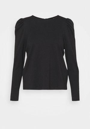 VMNOREEN O NECK BLOUSE - Top sdlouhým rukávem - black