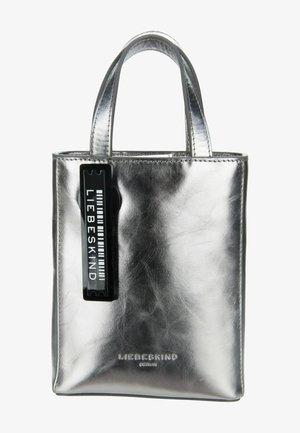 Handbag - silver lead