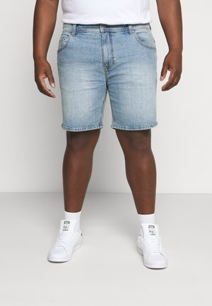 STRAIGHT PLUS - Denim shorts - everyday blue