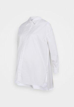 STRUCTURED PUFF NECKLINE - Košile - white