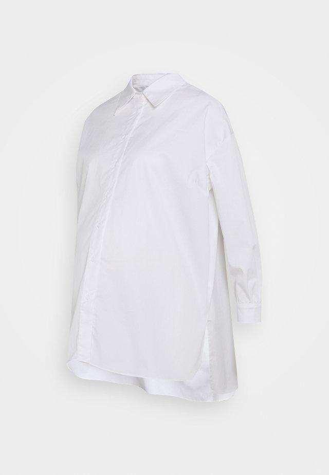STRUCTURED PUFF NECKLINE - Skjorte - white