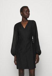 DESIGNERS REMIX - SONIA WRAP DRESS - Day dress - black - 0