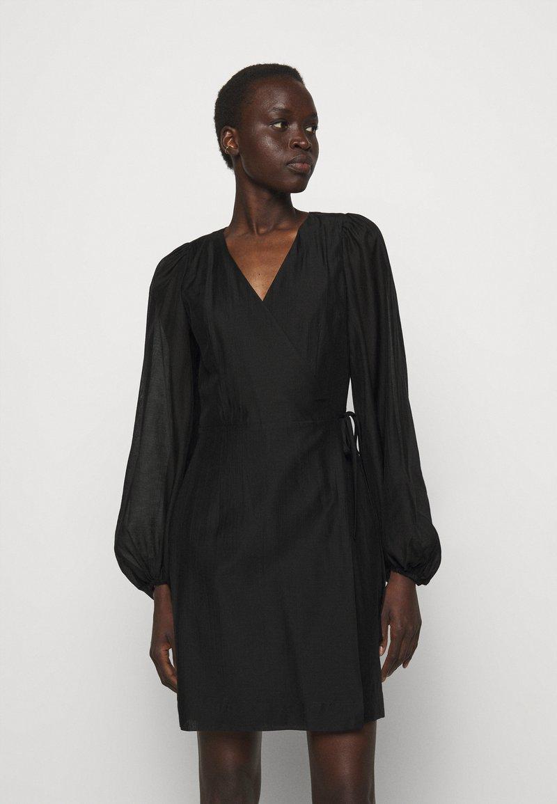 DESIGNERS REMIX - SONIA WRAP DRESS - Day dress - black