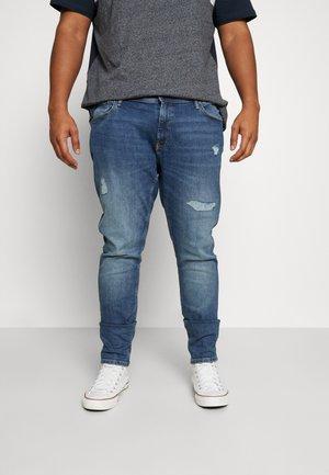 JJMONSE TEE CREW NECK - T-shirt print - navy blazer