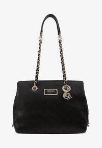 LOGO LOVE GIRLFRIEND SATCHEL - Handbag - black