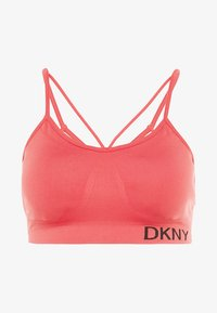LOW IMPACT STRAPPYSEAMLESS BRA REMOVABLE CUPS - Sport BH - radiant red
